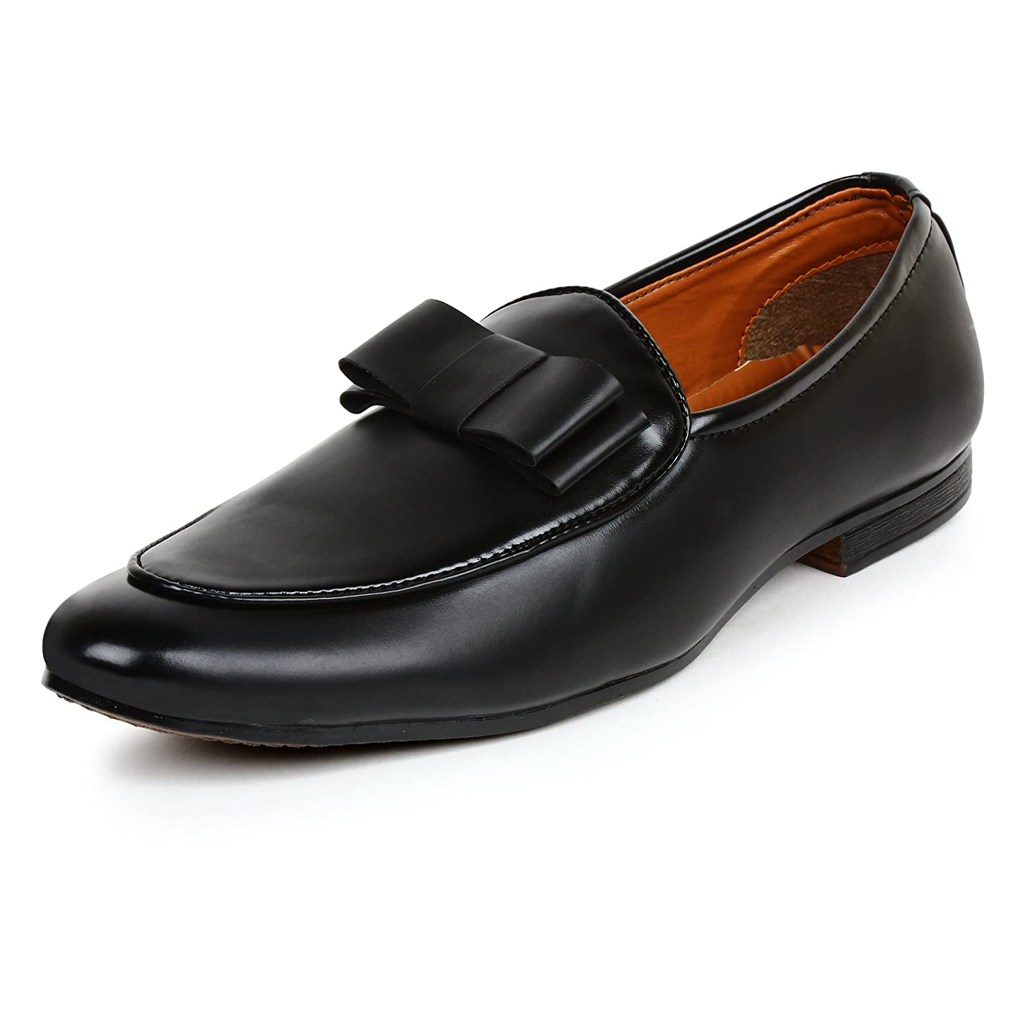 66e93b380cf931 BUWCH Men's Black Synthetic Leather Casual Loafer and Mocassins: Buy Online  at Low Prices in India - Amazon.in