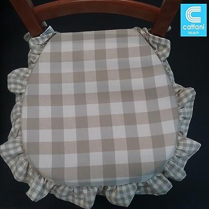 Cuscini X Sedie Cucina.Cuscini Sedie Cucina Set 4 Pezzi Tessuto Cotone Pesante