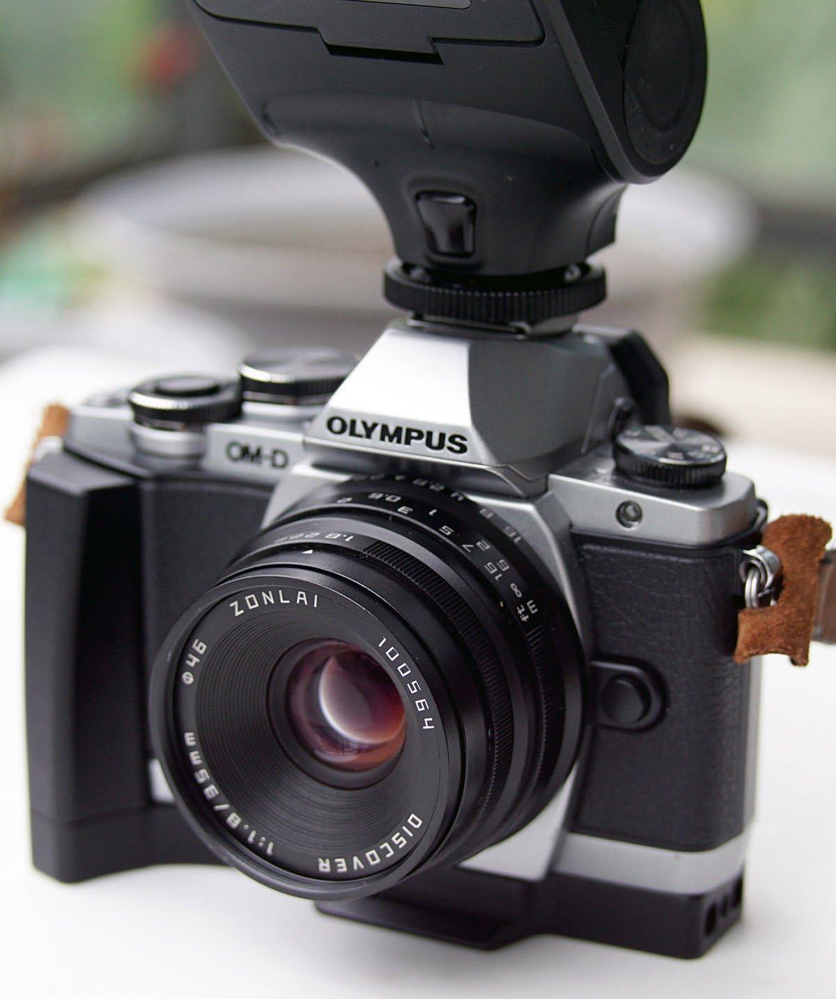 Hengyijia 35mm F1.8 Discover Manual Focus Lens Black for Olympus Panasonic Micro 4//3 Camera
