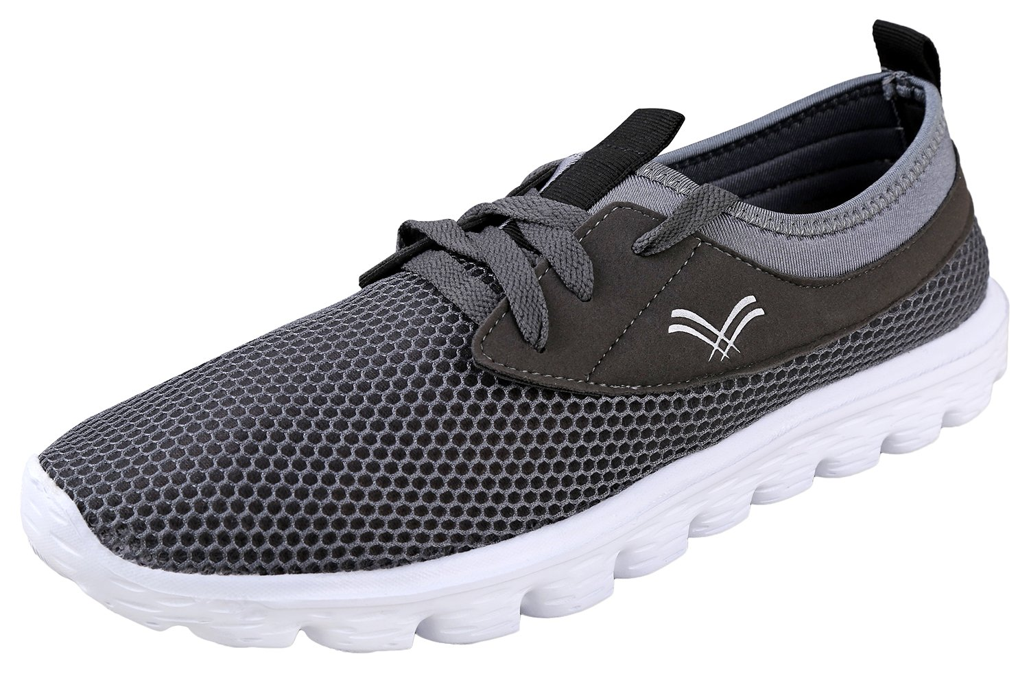 Urban Fox Men's Breeze Lighweight Shoes for Men | Running Shoes for Men | Casual Shoes | Walking Shoes for Men 12 D(M) US|Grey/White