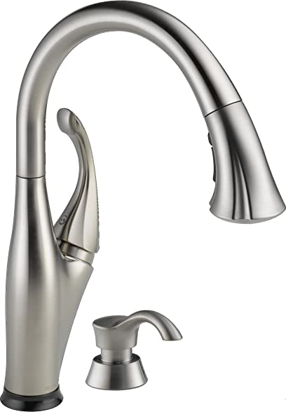 Delta Faucet 9192T SSSD DST Addison Single Handle Pull Down Kitchen With