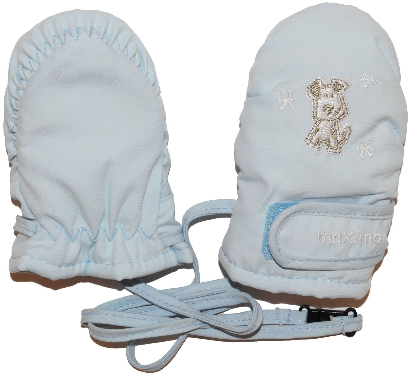 Unbekannt Handschuh Baby hell blau - Thermo Babyhandschuhe gefüttert Thermohandschuh - Gr. 0 bis 3 Monate - Fausthandschuh Handschuhe Kinder-Land