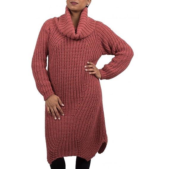 39cf4f1cba5 Primtex Robe Pull Laine col roulé en Grosse Maille pour Femme-Taille  Unique  Amazon.fr  Vêtements et accessoires
