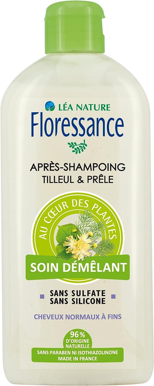 Floressance - Acondicionador natural con infusión de tilo y cola de caballo (500 ml - lote de 2)