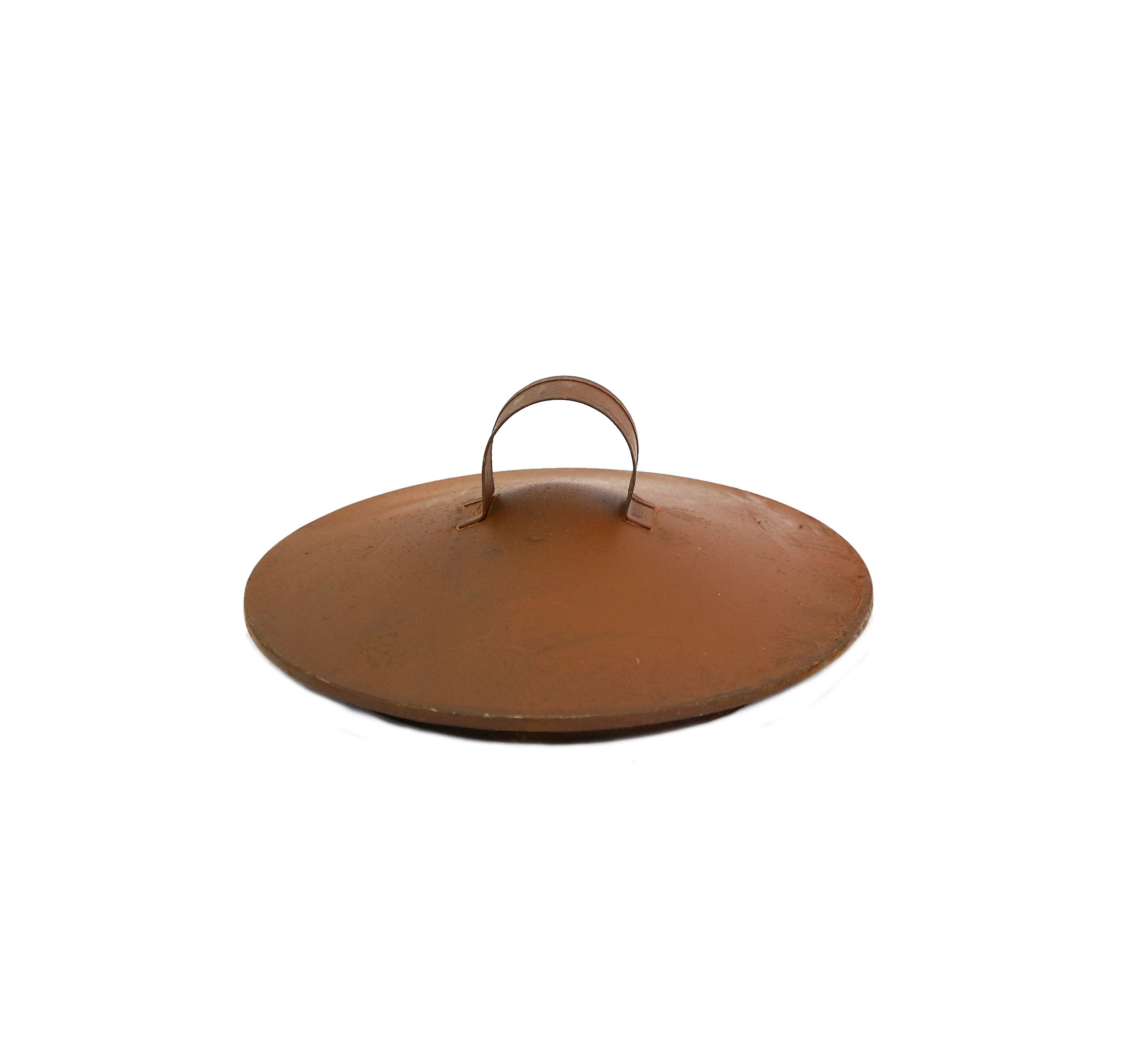 Large Rusty Lid With Loop - Set Of 3