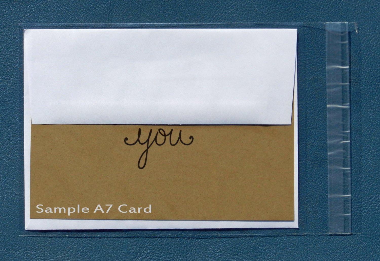 Amazon 100 Clear Resealable A7 Card Envelopes
