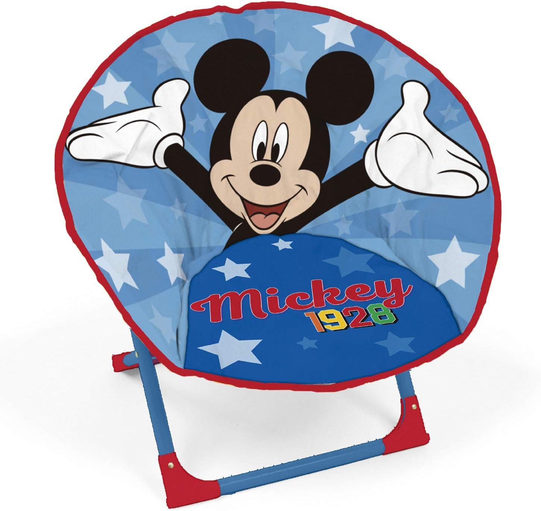 Disney Mickey Mouse Si/ège Lune Pliable pour Enfant /à partir de 3 Ans