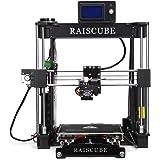 Lmystar 3D Printer,RAISCUBE A8R 3D Printer Kits Desktop DIY 3D Printing Machine Full Aluminum Printing Size 210 x 210 x 225 mm - Black