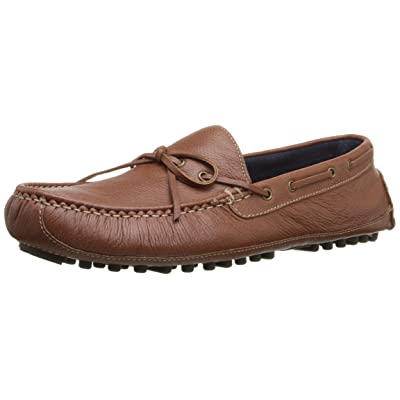 Cole Haan Men's Daytona Driver Slip-On Loafer, Papaya/Brown, 8 M US | Loafers & Slip-Ons