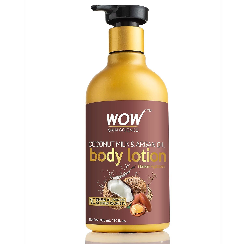 WOW Coconut Milk And Argan Oil Body Lotion, Medium Hydration, 300Ml