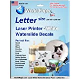 Laser Waterslide Decal Paper WHITE 10 Sheets Package