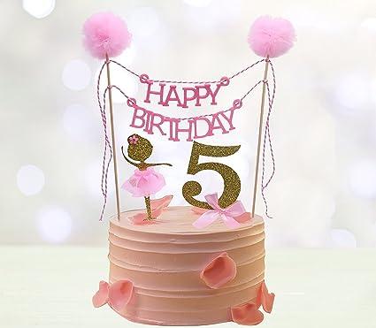 Amazon.com: Torta de cumpleaños decoraciones: