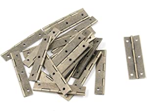 """Tulead Piano Hinges Cabinet Hinges Long Folding Hinges Chest Hinges Bronze Door Hinges 2.32""""x0.79"""",24PCS with Mounting Screws"""