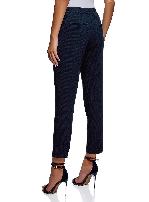oodji Ultra Mujer Pantalones con Cintura El/ástica y Cordones