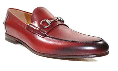 cfd50153d6d Image Unavailable. Image not available for. Color  Gucci Men s Horsebit  Burnished Leather Loafer ...