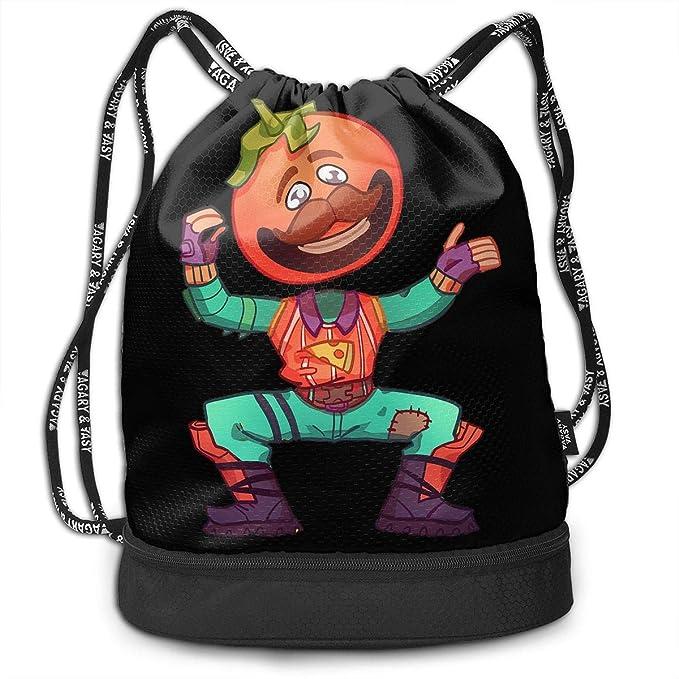 Amazon.com: Fortnite-Tomato Head - Mochila con cordón para ...
