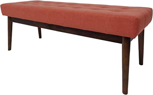 Christopher Knight Home Flavel Mid-Century Tufted Fabric Ottoman