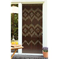 "Leguana - Cortina de cuentas cortina de cuentas de madera cortina para puerta "" menam "" aprox 90x200cm ( ancho x alto )"