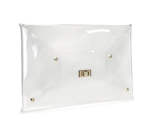 Amazon.com: Hoxis tamaño grande transparente de PVC sobre ...