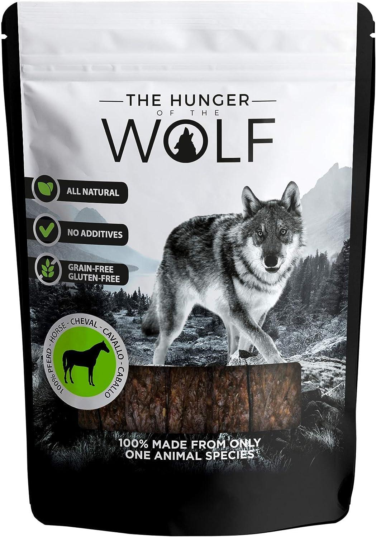 The Hunger of The Wolf - Snack de carne de caballo para perros, 200g
