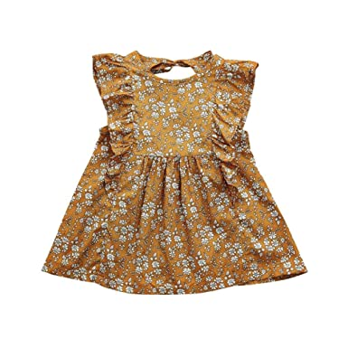 2976f757e Hatoys Cute Ruffles Sleeveless Dress,Baby Girls Summer Outfits Clothes  (0-12Months,