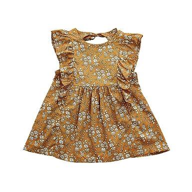 c265276267d Amazon.com  Hatoys Cute Ruffles Sleeveless Dress