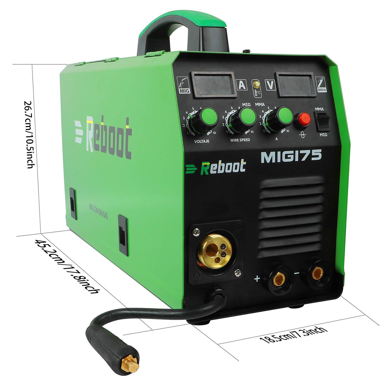 Soldador MIG REBOOT MIG175 de gas y sin gas DC 220 V Inverter ...
