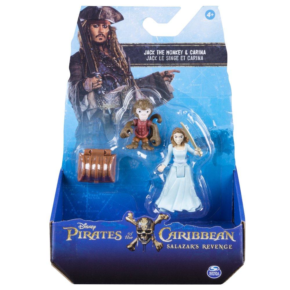 Pirates des Caraïbes–Pack 2Figurines de Monkey Jack et Carina (Bizak 61923101)