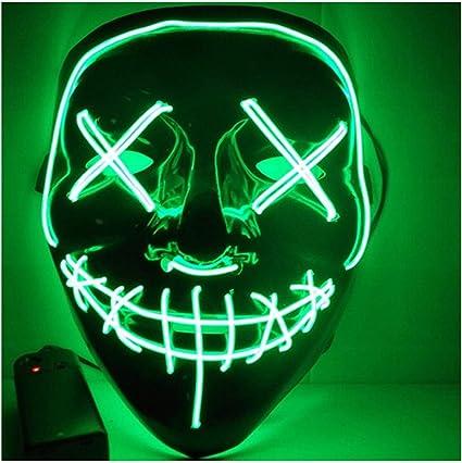 Máscara De Halloween LED Luz Fiesta de máscaras de la purga año de elecciones gran gracioso Máscara