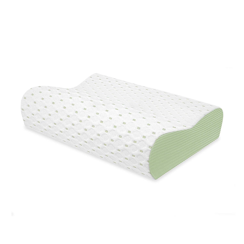 SensorPEDIC SensorCOOL Gel Overlay Contour Bed Memory Foam Pillow, Oversized, White