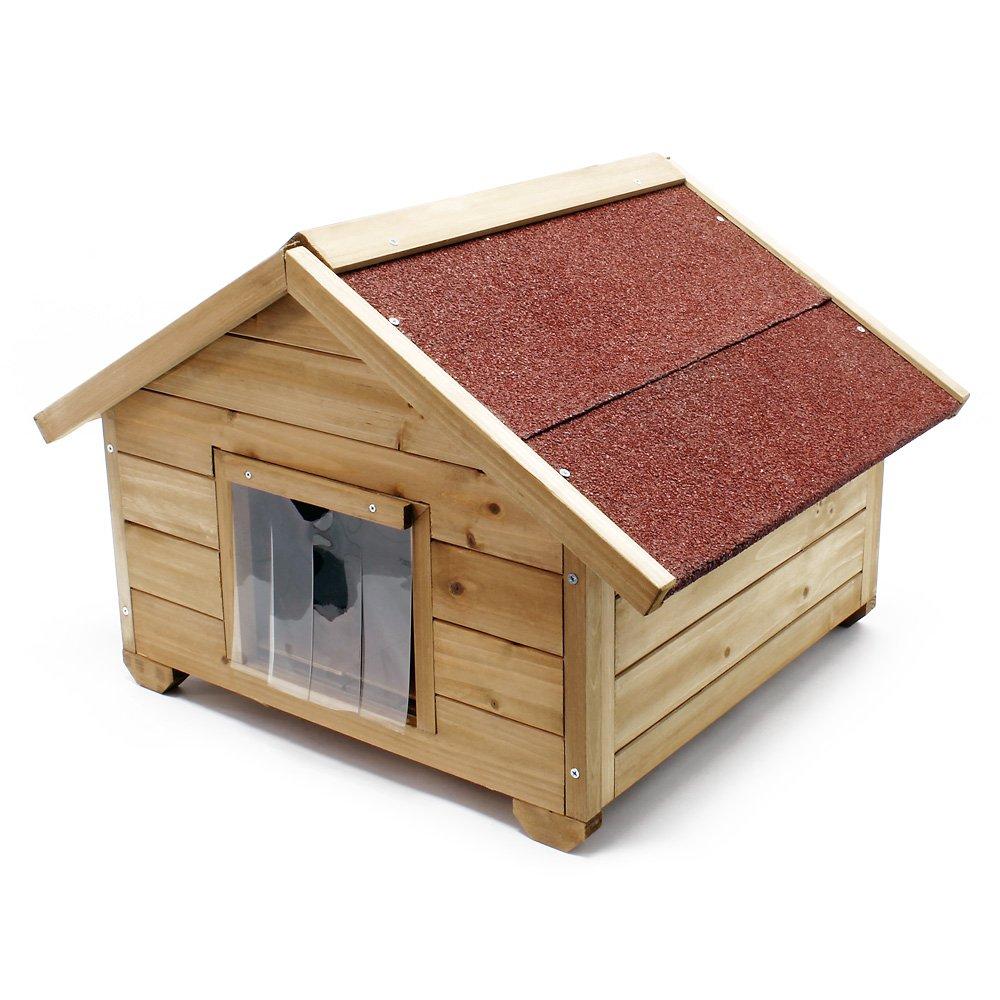 Caseta pequeña para gatos casa hogar impermeable aislado exterior para jardín: Amazon.es: Productos para mascotas