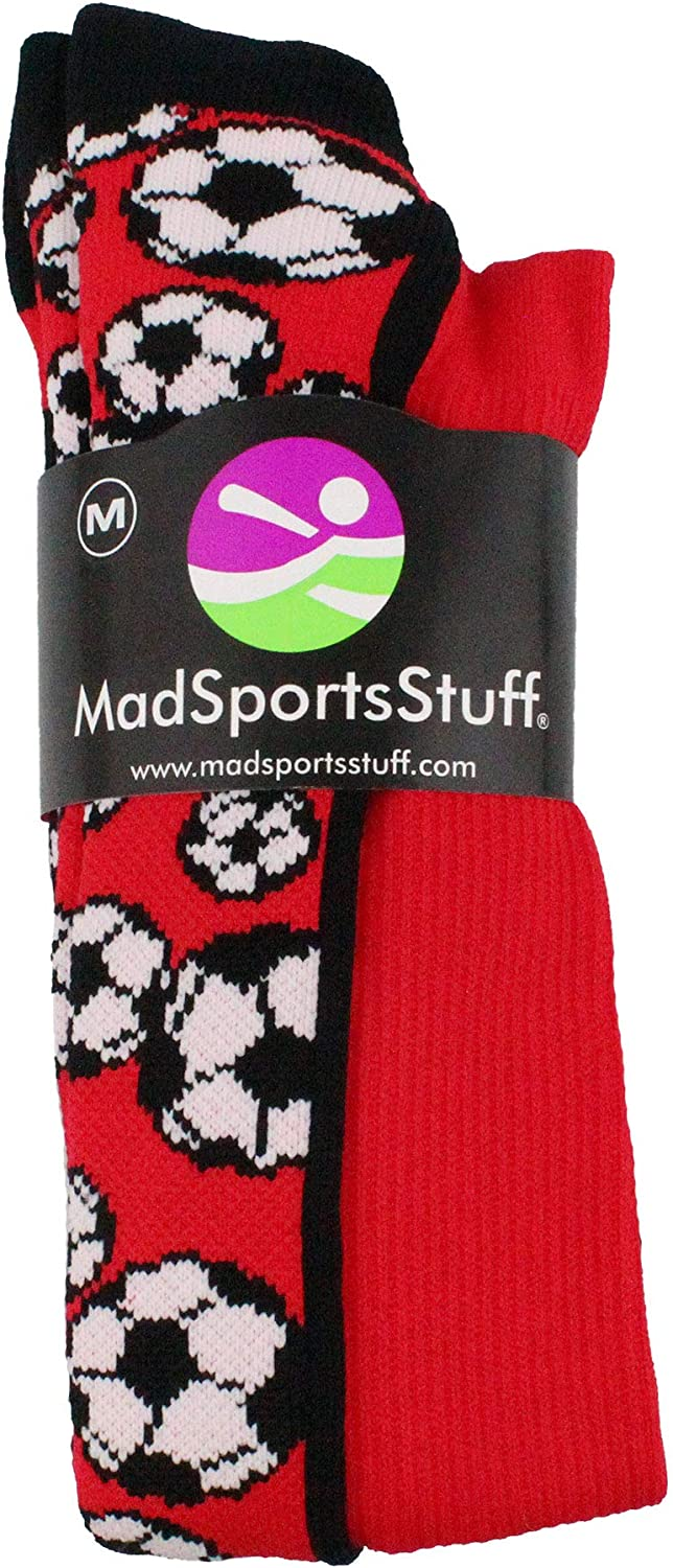 Crazy Soccer Socks with Soccer Balls over the calf multiple colors