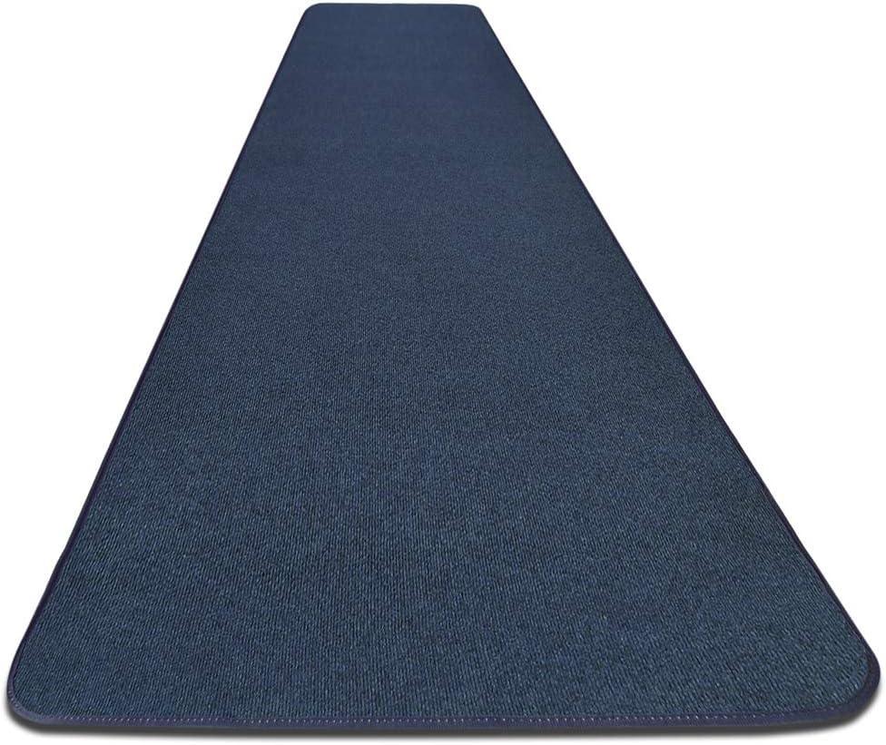 House, Home and More Outdoor Carpet Runner - Blue - 3 feet x 15 feet
