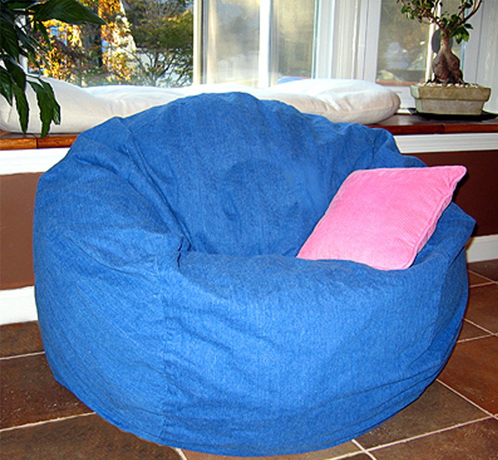 Amazon Ahh Products Blue Denim Washable Large Bean Bag Chair Toys Games