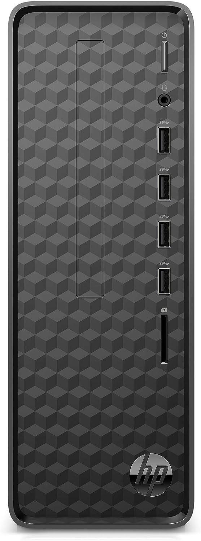 HP Slim Desktop, AMD Athlon Silver, 4GB RAM, 256 GB SSD, Windows 10 Home (S01-aF0011, Black)