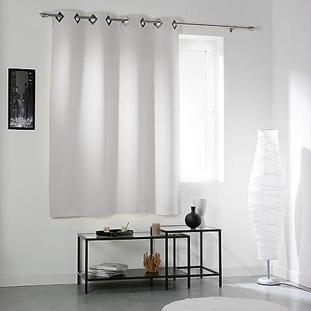 DOUCEUR D\'INTERIEUR 140 x 180 cm Black Out Cocoon Curtain Rings ...