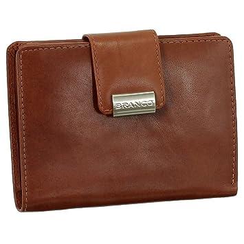 9ffaf933cb16d5 Luxus Leder Damen Geldbörse Portemonnaie Geldbeutel XXL mit Druckknopf 10 cm  Farbe rotbraun