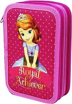 Estuche Disney Princesa Sofia para La Escuela Gran Capacidad 42 Piezas: Amazon.es: Juguetes y juegos