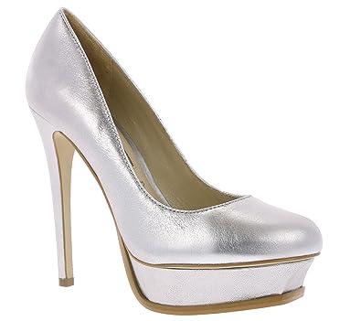 7234a62d803 Buffalo Women s ZS6910-16 Court Shoes Silver Silver Silver Size  4 UK   Amazon.co.uk  Shoes   Bags