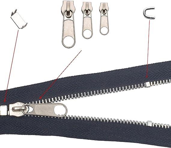 nero e argento Umsole 141/pezzi cerniera sostituzione linguette cerniera Fixer kit di riparazione con cerniera installare pinze strumento