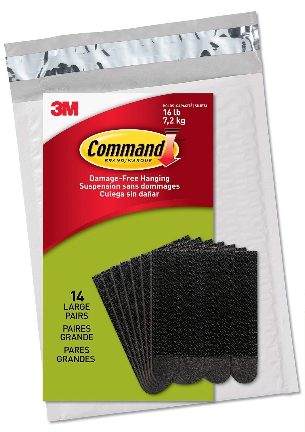 Command Picture Hanging Strips, Black, 14 Pairs by Command