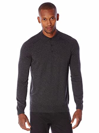 Perry Ellis Mens Solid Polo Sweater