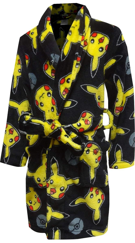 Pokemon Boys Pikachu Plush Black Robe AME PK180BRD