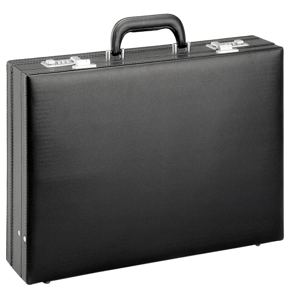 D& N Tradition Business Aktenkoffer PU 44 cm erw, schwarz D+N