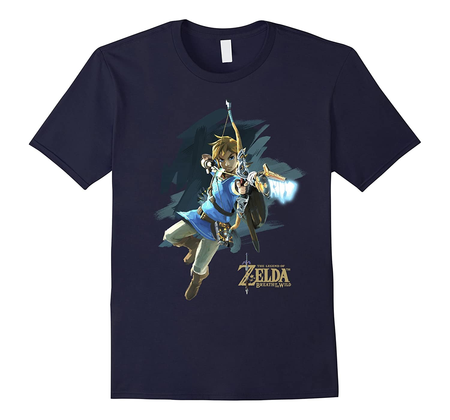 Nintendo Zelda Breath of the Wild Link Jump Shot Aim T-Shirt-RT