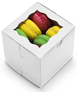 """Bakery Boxes 4x4x4"""" [50Pack] by Cuisiner 