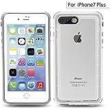 Easylife iPhone7 Plus 防水ケース 透明 IP68保護等級 防塵・防雪・耐衝撃カバー 全面保護 5.5インチ 全密封アイフォン7プラスカバー 指紋認識可 スマホケース