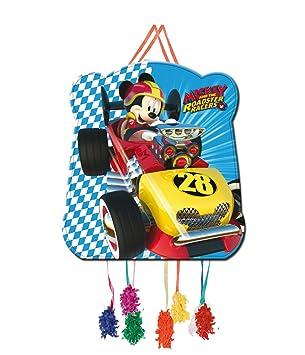 Verbetena, 014001348, piñata basic Disney mickey mouse y los super pilotos. dimensiones 28x33 cms