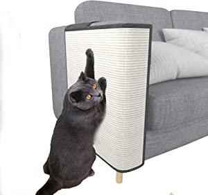 Cat Scratcher Couch Protector - Natural Sisal Furniture Protection from Cats - Corner cat Scratcher Couch for Bed,Chair,Sofa - Easy Installation