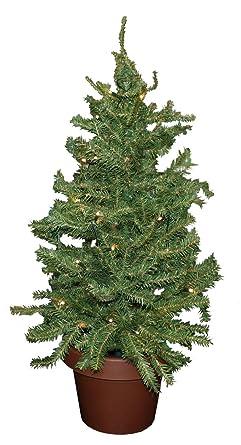 Idena 8582019 - Deko Tannenbaum mit 35 LED warm weiß, Batterie betrieben, für Weihnachten, Advent, als Stimmungslicht, Christ